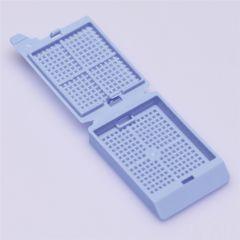 Casete cu capac ISOLAB pentru biopsie, albastre, 500 buc
