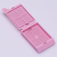 Casete cu capac ISOLAB pentru histologie, roz, 500 buc