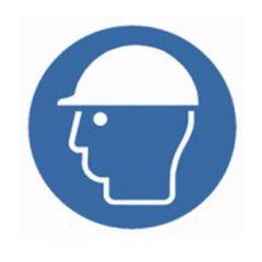 Eticheta ROTH securitate si protectie, simbol casca protectie, Ø 100 mm