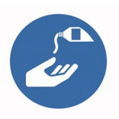 Eticheta ROTH securitate si protectie, simbol crema protecti, Ø 100 mm