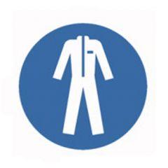 Eticheta ROTH securitate si protectie, simbol imbracaminte protectie, Ø 100 mm