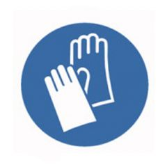 Eticheta ROTH securitate si protectie, simbol manusi protectie, Ø 50 mm