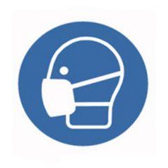 Eticheta ROTH securitate si protectie, simbol masca protectie, Ø 100 mm