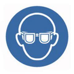 Eticheta ROTH securitate si protectie, simbol ochelari protectie, Ø 100 mm