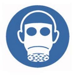 Eticheta ROTH securitate si protectie, simbol protectie respiratorie, Ø 100 mm