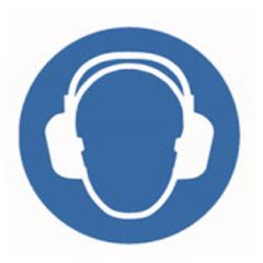 Eticheta ROTH securitate si protectie, simbol protectie urechi, Ø 100 mm