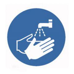 Eticheta ROTH securitate si protectie, simbol spalare maini, Ø 100 mm