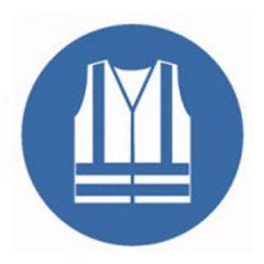 Eticheta ROTH securitate si protectie, simbol vesta protectie, Ø 100 mm
