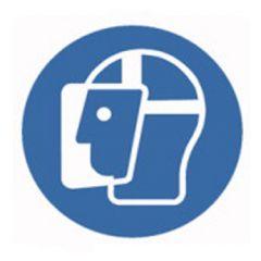 Eticheta ROTH securitate si protectie, simbol viziera protectie, Ø 100 mm
