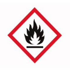 Etichete substante periculoase ISOLAB, simbol avetizare flacara, 26*37 mm, 250 buc