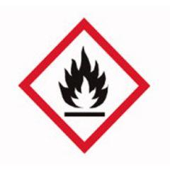 Etichete substante periculoase ISOLAB, simbol pericol flacara, 26*37 mm, 250 buc