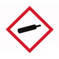 Etichete substante periculoase ISOLAB, simbol avertizare gaz sub presiune, 26*37 mm, 250 buc