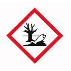 Etichete substante periculoase ISOLAB, simbol avertizare mediu toxic, 26*37 mm, 250 buc