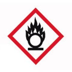 Etichete substante periculoase ISOLAB, simbol avertizare oxidant, 26*37 mm, 250 buc