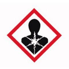 Etichete substante periculoase Isolab, simbol avertizare pericol sanatate, 37*52 mm, 250 buc
