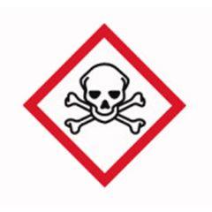 Etichete substante periculoase ISOLAB, simbol pericol toxic, 26*37 mm, 250 buc