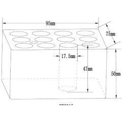 Insertii FALC pentru incalzitoare cu blocuri, 12 locasuri