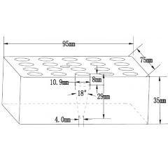 Insertii FALC pentru incalzitoare cu blocuri, 20 locasuri