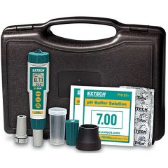 Kit pH-metru portabil Extech EX800, 0 - 14 pH
