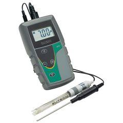 Kit pH-metru portabil Thermo Scientific Eutech pH 6+, cu electrod pH/temp. din plastic HDPE, 1 - 13 pH