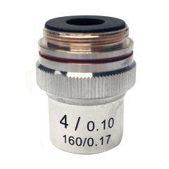 Lentila obiectiv acromatica M-131 Optika pentru microscoape, 4x