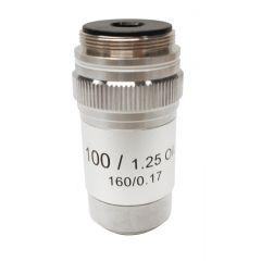 Lentila obiectiv acromatica M-136 Optika pentru microscoape, 100x