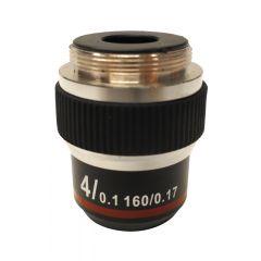 Lentila obiectiv cu contrast ridicat M-137 Optika pentru microscoape, 4x