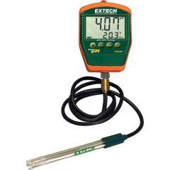 pH-metru portabil Extech PH220-C cu electrod pH (cu cablu), 0 - 14 pH