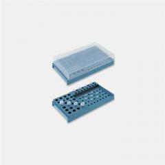 Placa de lucru tuburi PCR ISOLAB din polipropilena, 72 orificii, 210*115*50 mm